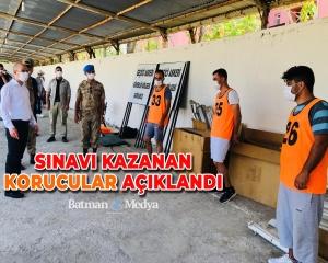 Sınavı kazanan korucular açıklandı