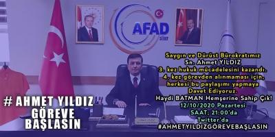 AHMET YILDIZ'A HER KESİMDEN DESTEK YAĞIYOR