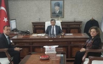 ARSLAN'DAN VALİ ŞAHİN'E ZİYARET