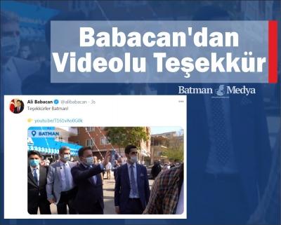 Babacan'dan videolu teşekkür