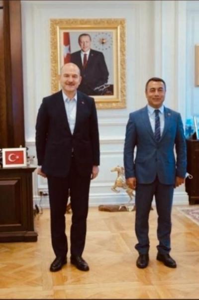 Başkan Eren, Bakan Soylu ile görüştü