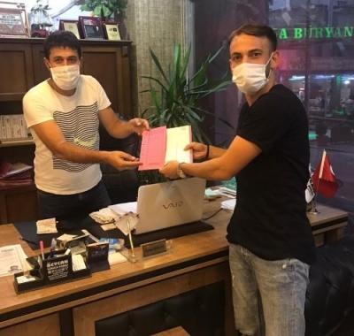 Beycan Sürücü Kursundan Batman Petrolspor futbolcusuna jest