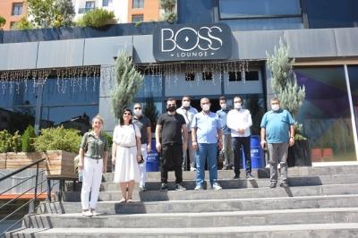 Boos Lounge Restoran, gazetecileri ağırladı