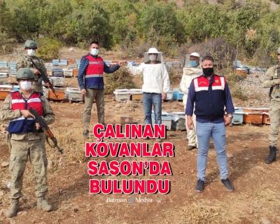 Çalınan kovanlar Sason'da bulundu
