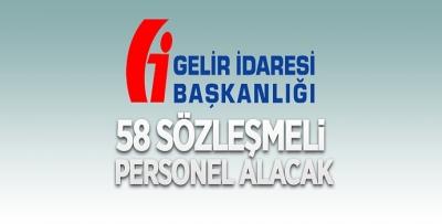 GİB, 58 PERSONEL ALACAK