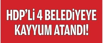 HDP'Lİ 4 BELEDİYEYE KAYYUM
