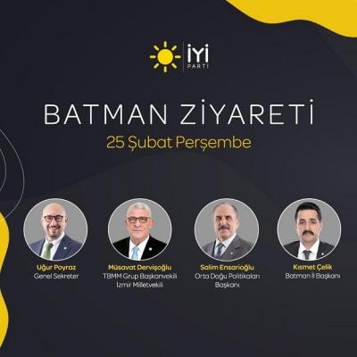 İYİ PARTİ BATMAN'A ÇIKARMA YAPIYOR