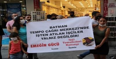 İzmir'de Batmanlı işçiler için eylem