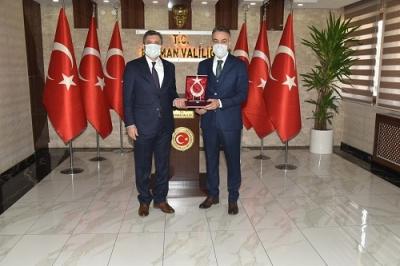 Vali Şahin, Bitlis Valisini ağırladı