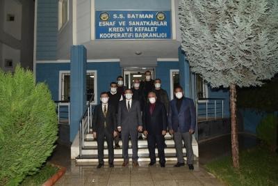 Vali Şahin'den, Batman Esnaf Kefalet ve Kredi Kooperatifini Ziyaret Etti