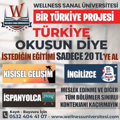 WELLNESS SANAL ÜNİVERSİTESİ'NDEN EĞİTİM DEVRİMİ BAŞLADI